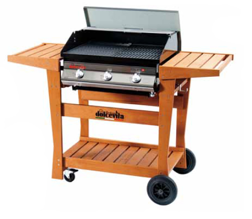barbecue Dolcevitaego - Euro 3 Safety Controls con carrello