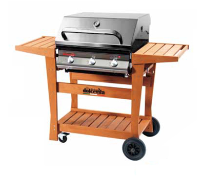 barbecue Euro 3 Safety Controls con carrello