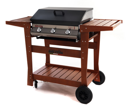 barbecue Serie Euro 3 Safety Controls <br/>con carrello Deluxe