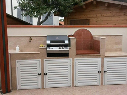Built-in barbecue / Built-in gas barbecue